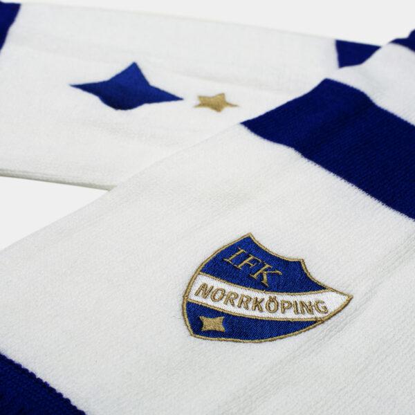 halsduk med IFK Norrköpings stjärna och klubbemblem