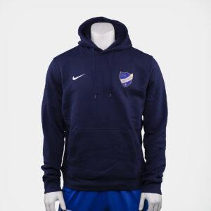 mörkblå hoodie med IFK Norrköpings klubbemblem