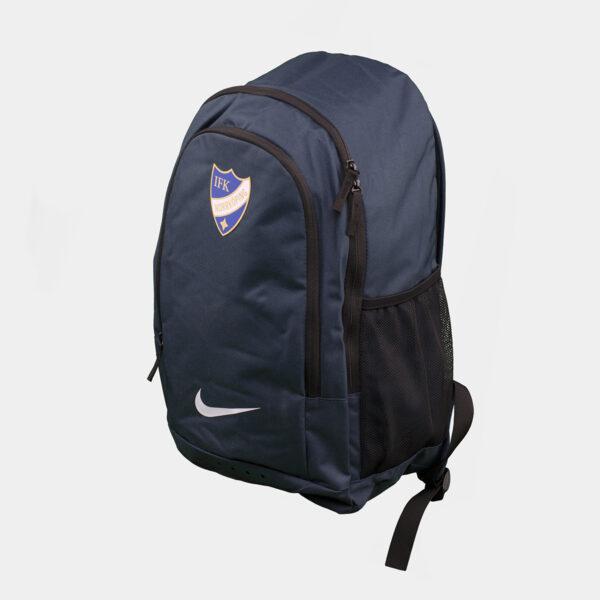 blå ryggsäck med IFK Norrköpings klubbemblem