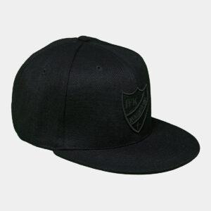 svart keps med IFK Norrköpings klubbemblem i svart brodyr