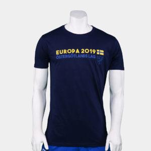 mörkblå t-shirt med texten Östergötlands lag för Europa League 2019