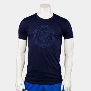mörkblå t-shirt med texten Norrköpings idrottsförening och klubbemblem